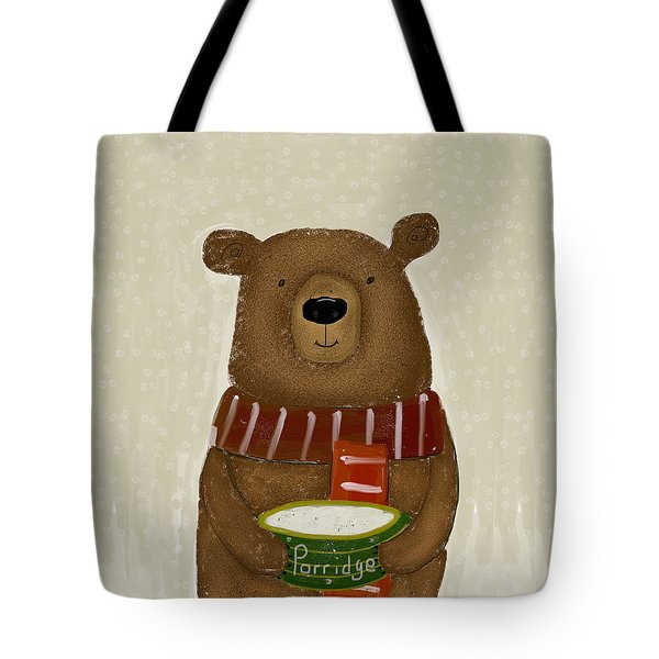 Tote Bag featuring the painting Breakfast For Bears by Bri B