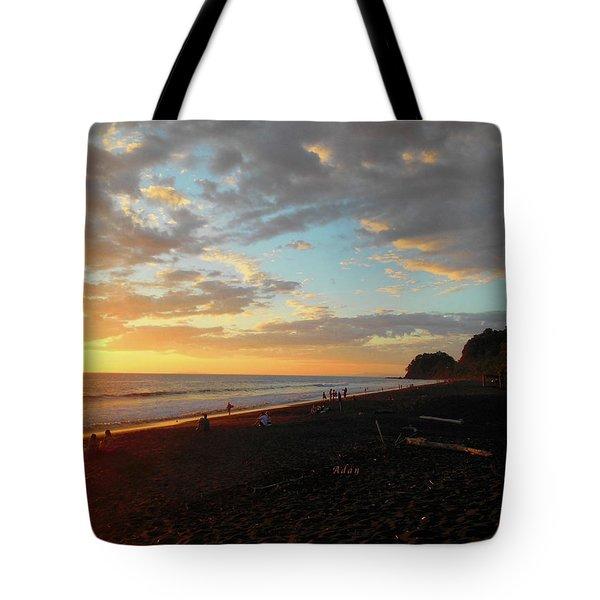 Playa Hermosa Puntarenas Costa Rica - Sunset A One Tote Bag by Felipe Adan Lerma