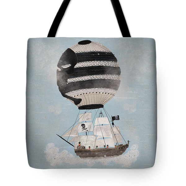 Tote Bag featuring the painting Sky Pirates by Bri B