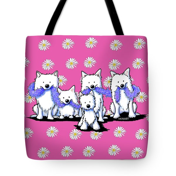 Sams And Westie Tote Bag