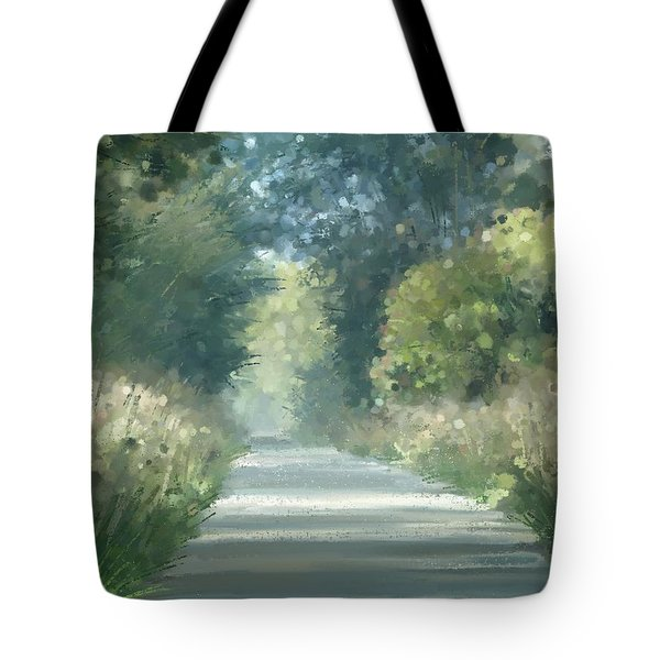 Tote Bag featuring the pastel The Road Back Home by Ivana Westin