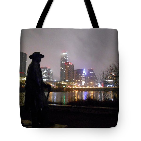 Austin Hike And Bike Trail - Iconic Austin Statue Stevie Ray Vaughn - One Tote Bag