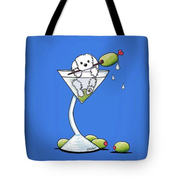 Maltese Martini Tote Bag by Kim Niles