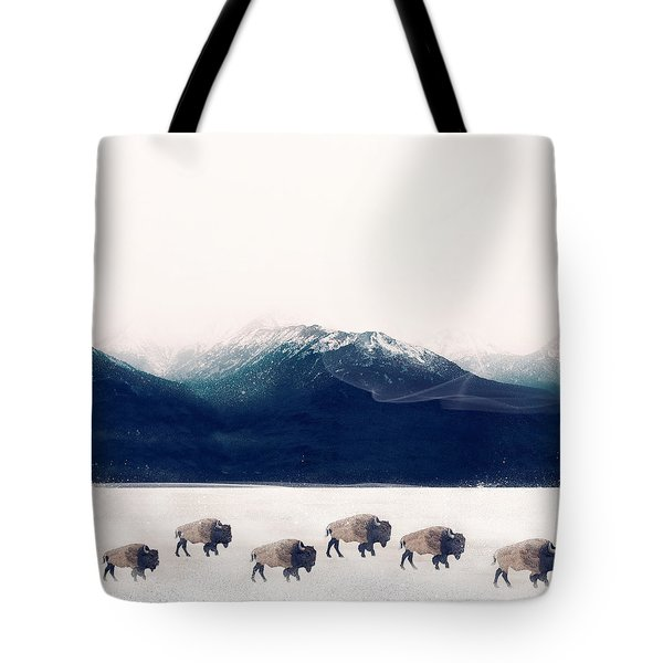 Tote Bag featuring the painting Walk The Line by Bri B