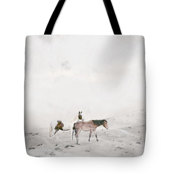 Tote Bag featuring the painting You Are Not Alone by Bri B