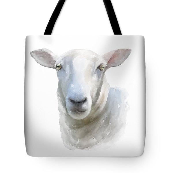 Tote Bag featuring the painting Watercolor Sheep by Ivana Westin