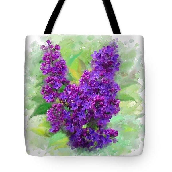 Watercolor Lilac Tote Bag