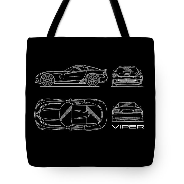 Viper Blueprint Tote Bag