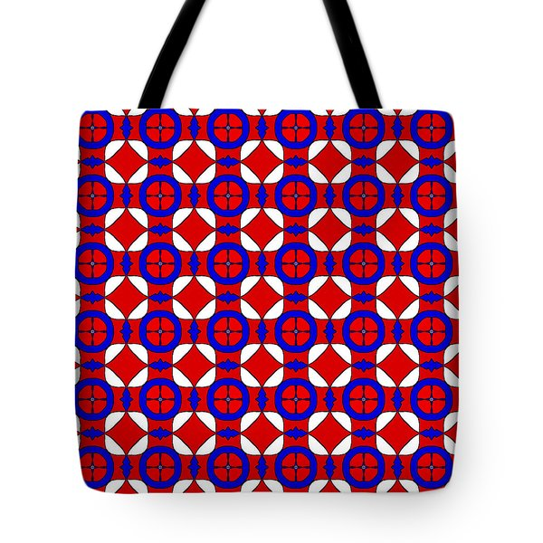 Tote Bag featuring the digital art Red White And Blue by Becky Herrera