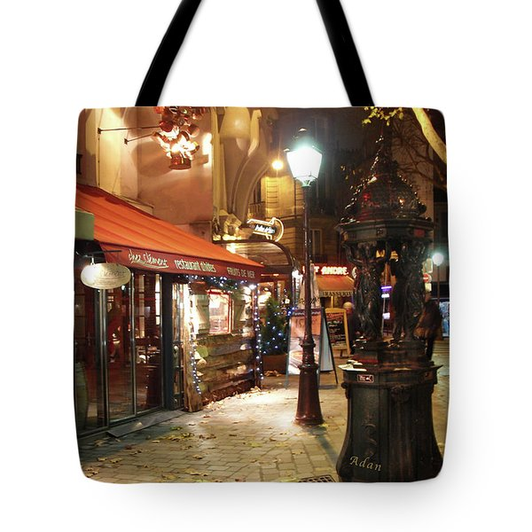 Place St Michel To Rue Saint-andre Des Arts Tote Bag