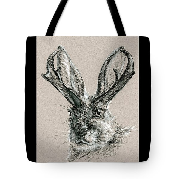 The Mythical Jackalope Tote Bag