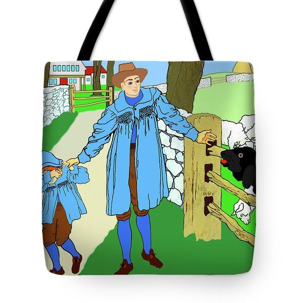 Baa, Baa, Black Sheep Nursery Rhyme Tote Bag by Marian Cates