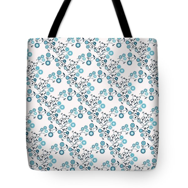 Delft Floral Pattern Tote Bag by Methune Hively