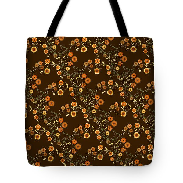 Autumn Flower Explosion Tote Bag by Methune Hively