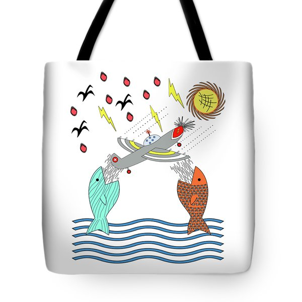 Fish Food Tote Bag by Methune Hively