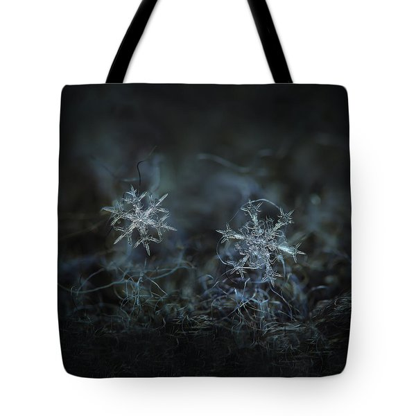 Snowflake Photo - When Winters Meets - 2 Tote Bag