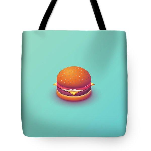 Burger Isometric - Plain Mint Tote Bag
