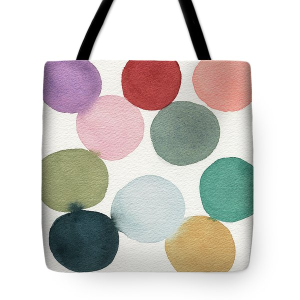 Colorful Circles Abstract Watercolor Tote Bag
