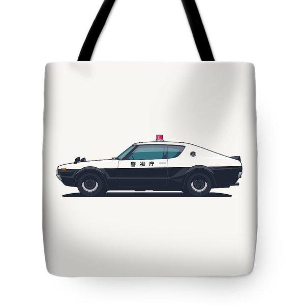 Nissan Skyline Gt-r C110 Japan Police Car Tote Bag