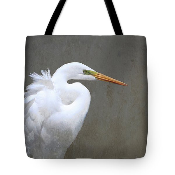 Portrait Of An Egret Rectangle Tote Bag