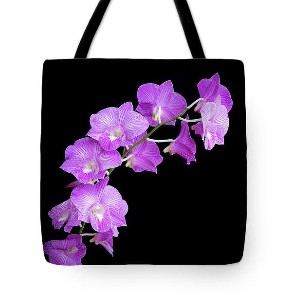 Vivid Purple Orchids Tote Bag