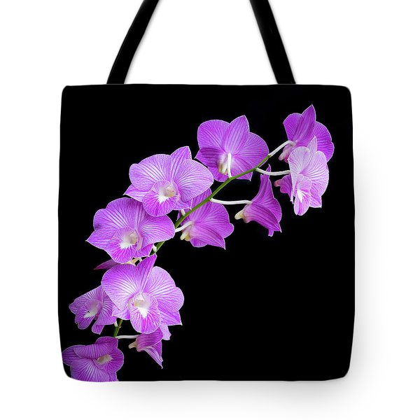 Vivid Purple Orchids Tote Bag