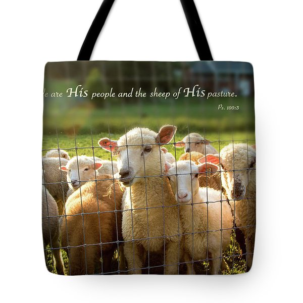 Psalm 100 Tote Bag