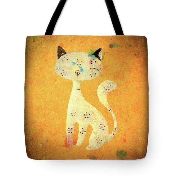 Artistic Pussycat Tote Bag