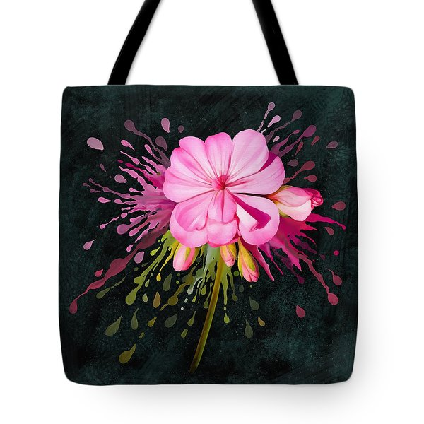 Tote Bag featuring the painting Color Eruption  by Ivana Westin