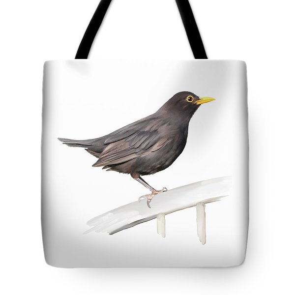 Tote Bag featuring the painting Ms. Blackbird Is Brown by Ivana Westin