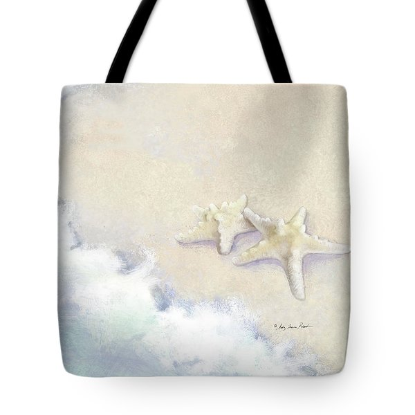 Tote Bag featuring the painting Dance Of The Sea - Knobby Starfish Impressionstic by Audrey Jeanne Roberts