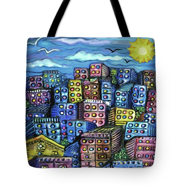 Cityscape Sculpture Tote Bag