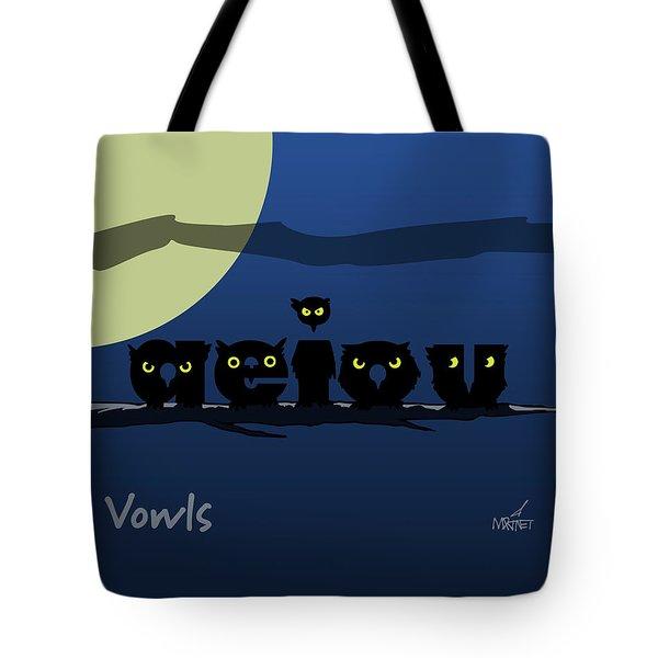 Vowls Tote Bag