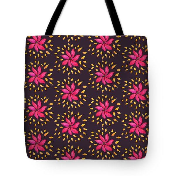Abstract Whimsical Watercolor Pink Flower Tote Bag
