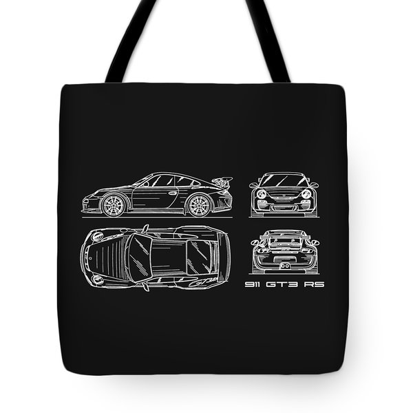 911 Gt3 Rs Blueprint Tote Bag