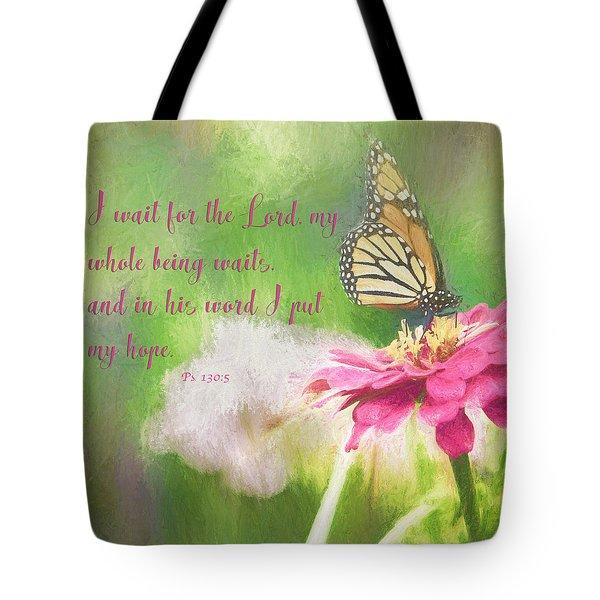Psalm 130 Tote Bag