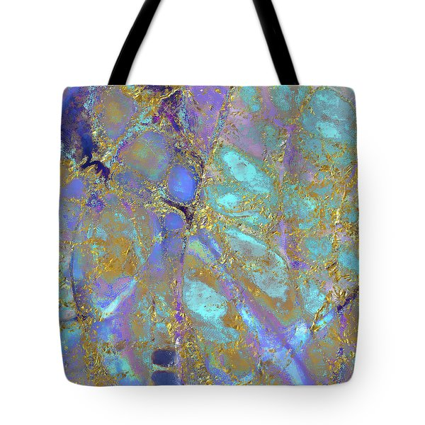 Tote Bag featuring the painting Where Mermaids Sing by Menega Sabidussi