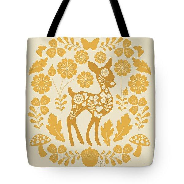 Chestnut Woodland Folk Deer Tote Bag