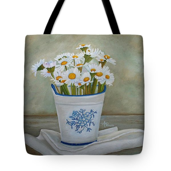 Daisies And Porcelain Tote Bag