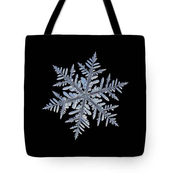 Real Snowflake - Silverware Black Tote Bag