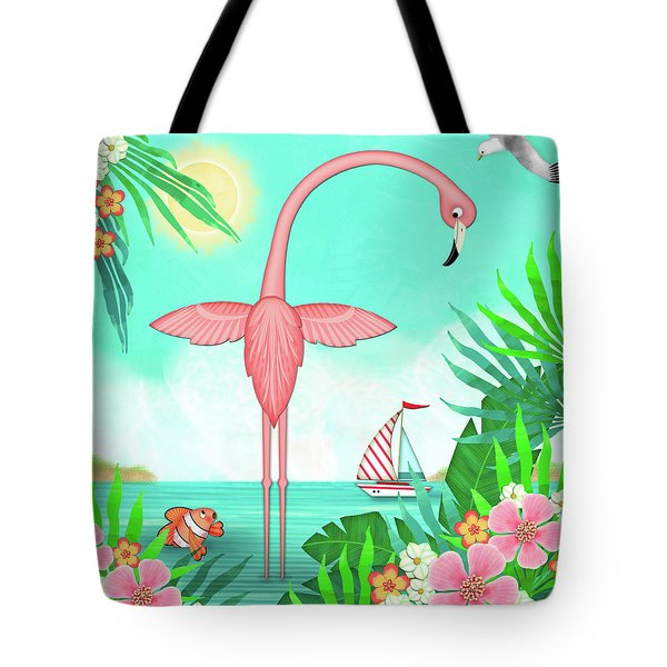 F Is For Flamingo Tote Bag
