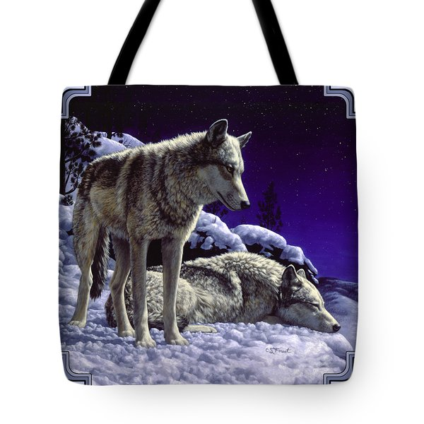 Wolf Painting - Night Watch Tote Bag