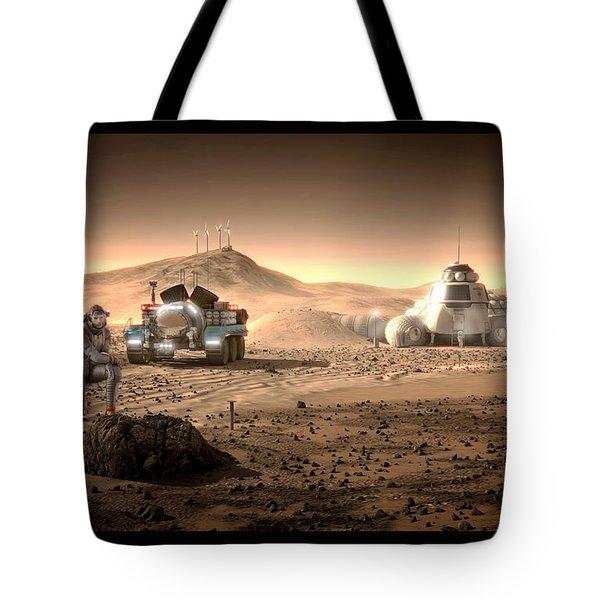 Tote Bag featuring the digital art Valley End Cam 34 by Bryan Versteeg