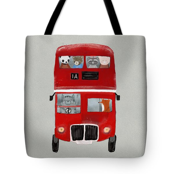 The Little Big Red Bus Tote Bag