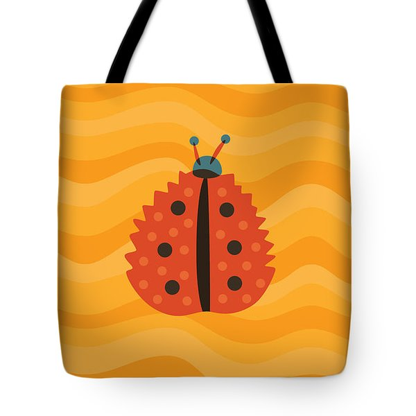 Orange Ladybug Masked As Autumn Leaf Tote Bag