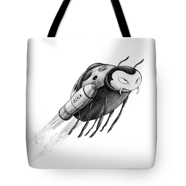 Lady Rocket Bug Tote Bag