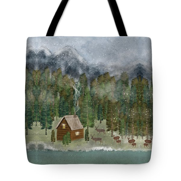 Happy In The Wilderness Tote Bag