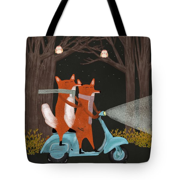 The Fox Mobile Tote Bag