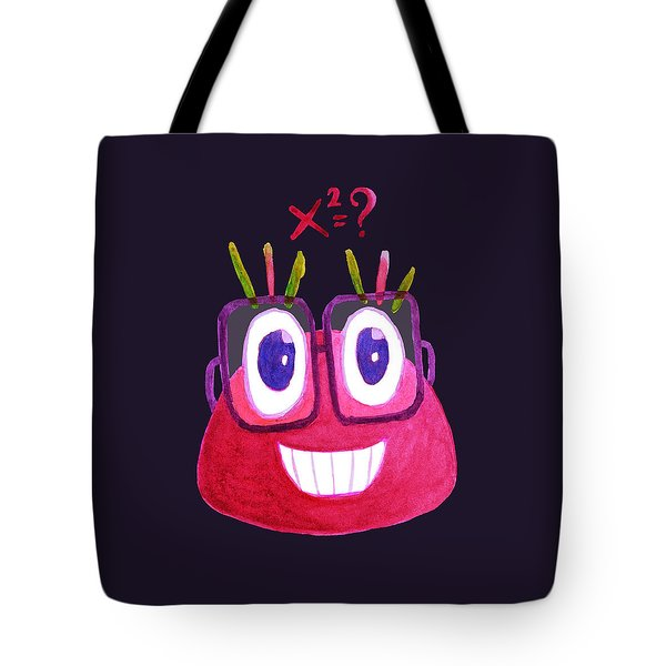 Cute Geek Mathematician Watercolor Candy Tote Bag