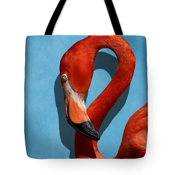 Curves, A Head - A Flamingo Portrait Tote Bag